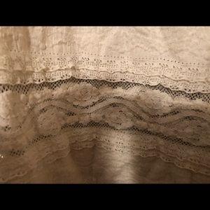 Express Tops - Long Sleeve Lace Shirt - Express